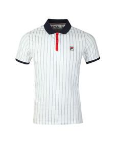 Fila Mens White S/S BB1 Vintage Polo
