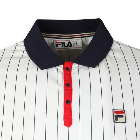Fila Mens White S/S BB1 Vintage Polo main image