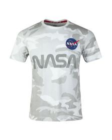 Alpha Industries Mens White NASA Reflective T Shirt