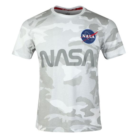 Alpha Industries Mens White NASA Reflective T Shirt main image