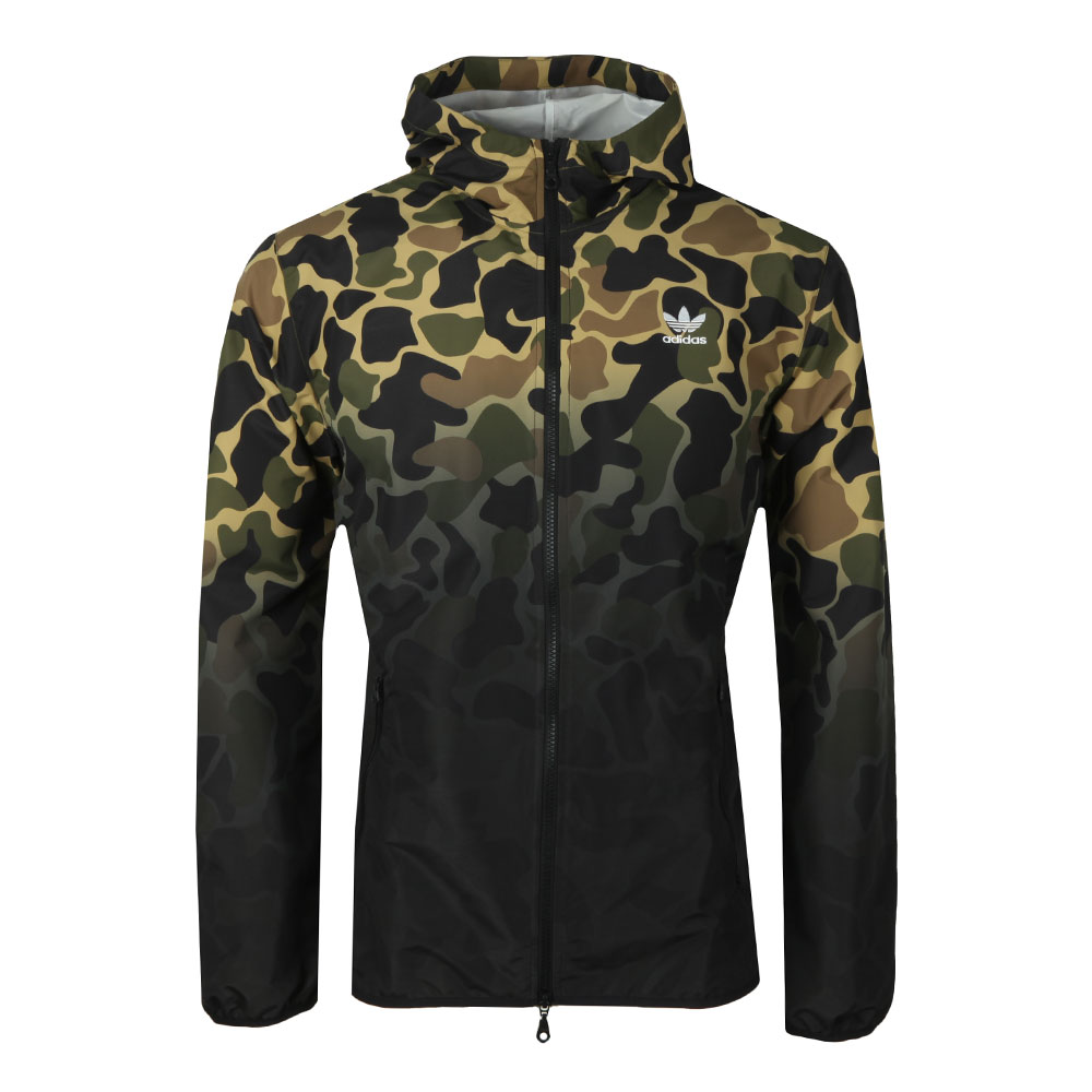 2536adc3f009 adidas Originals Mens Green Camo Windbreaker
