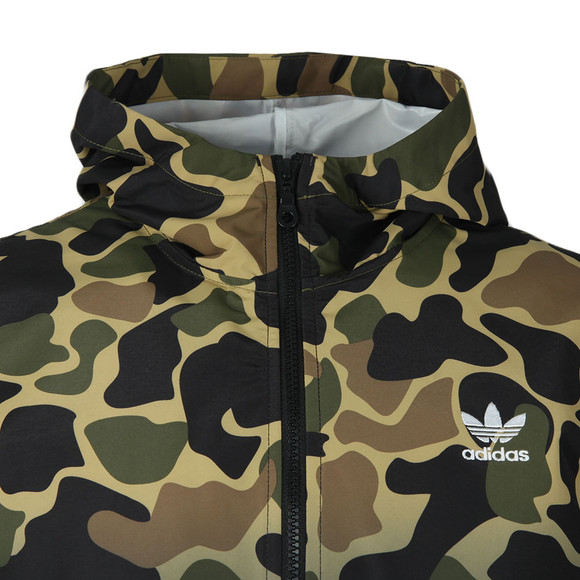 Adidas Originals Mens Green Camo Windbreaker main image