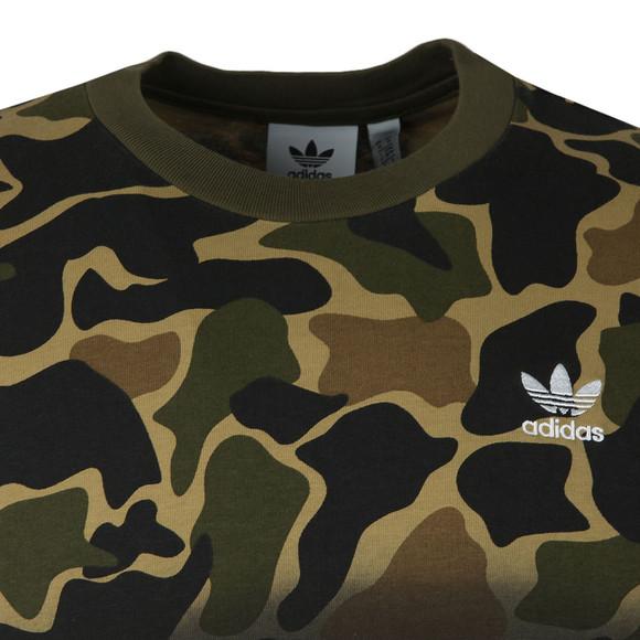 Adidas Originals Mens Green S/S Camo Tee main image