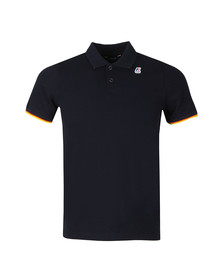 K-Way Mens Blue Vincent Contrast Polo Shirt