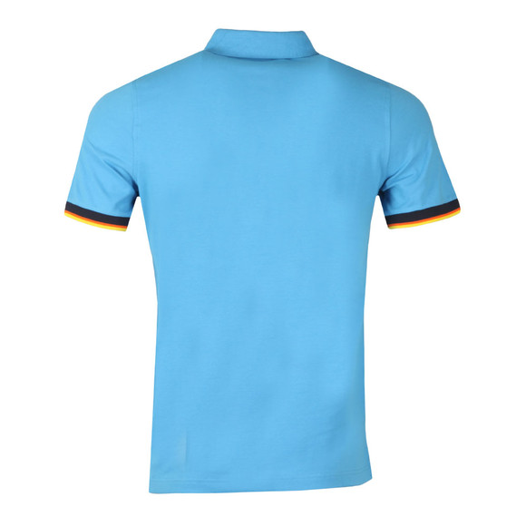 K-Way Mens Blue Vincent Contrast Polo Shirt main image