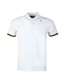 K-Way Mens White Vincent Contrast Polo Shirt