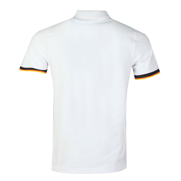 K-Way Mens White Vincent Contrast Polo Shirt main image