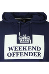 Weekend Offender Mens Blue Weekend Offender HM Service Hoody