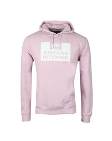 Weekend Offender Mens Pink Weekend Offender HM Service Hoody