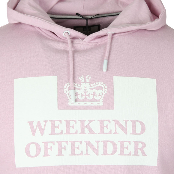 Weekend Offender Mens Pink Weekend Offender HM Service Hoody main image