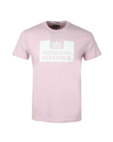 Weekend Offender Mens Pink Weekend Offender Prison T-Shirt