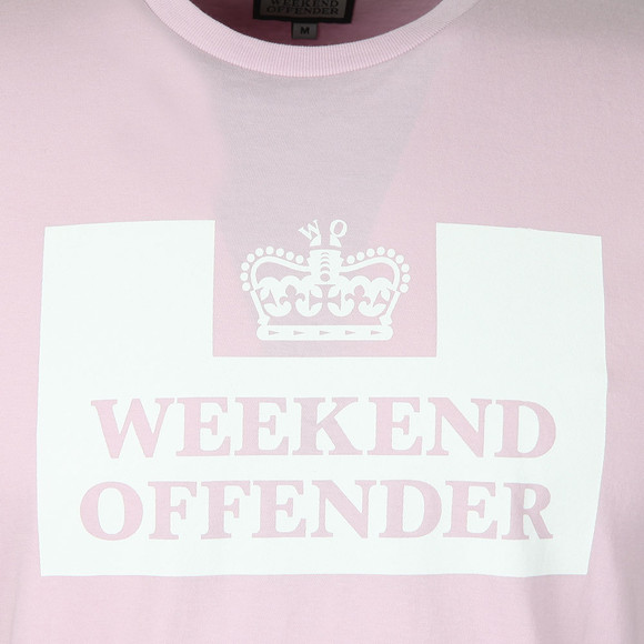 Weekend Offender Mens Pink Weekend Offender Prison T-Shirt main image
