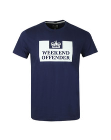 Weekend Offender Mens Blue Weekend Offender Prison T-Shirt