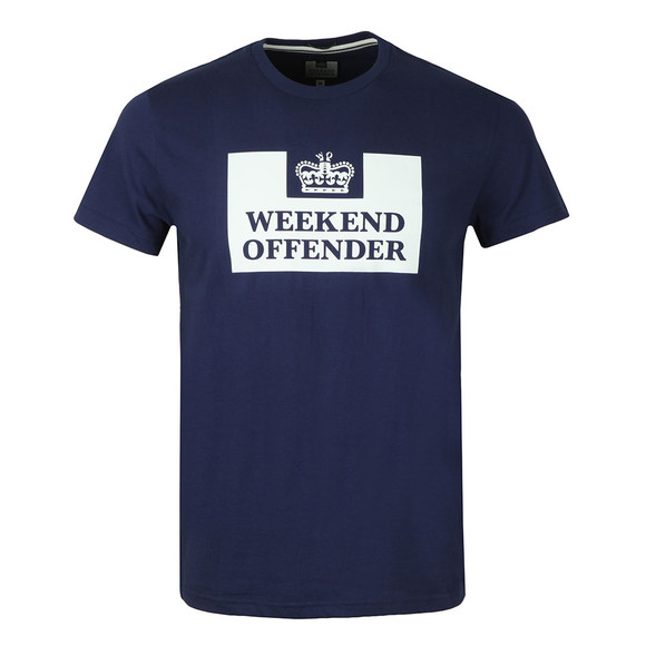 Weekend Offender Mens Blue Weekend Offender Prison T-Shirt main image