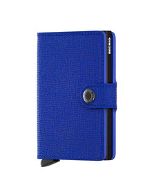 Secrid Mens Blue Crisple Mini Wallet