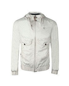 Pretty Green Mens Beige Zip Through Hooded Jacket