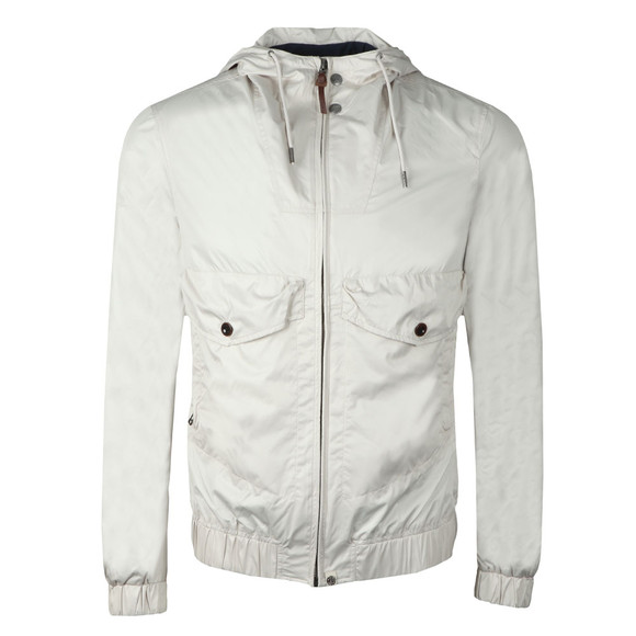 Pretty Green Mens Beige Zip Through Hooded Jacket  main image