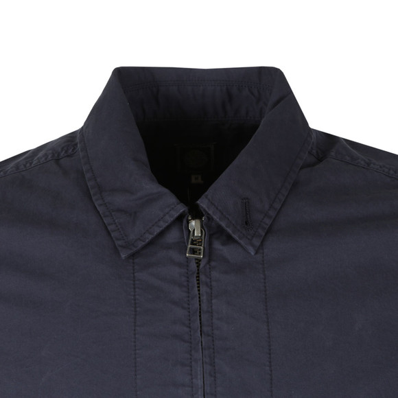 Pretty Green Mens Blue L/S Garment Dyed Zip Shirt main image