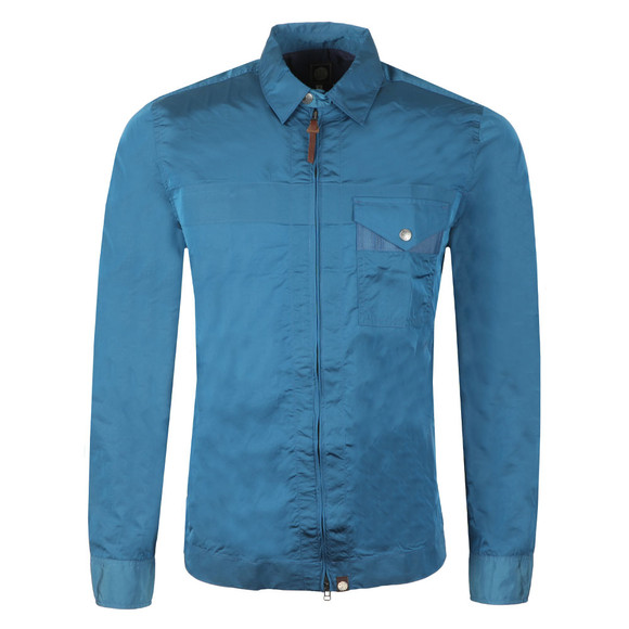 Pretty Green Mens Blue Lightweight Zip Through Jacket  main image