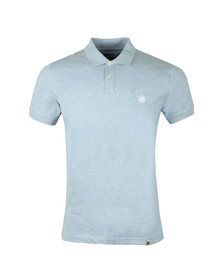 Pretty Green Mens Blue S/S Marl Polo Shirt