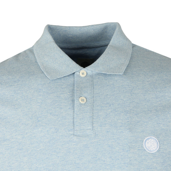 Pretty Green Mens Blue S/S Marl Polo Shirt main image