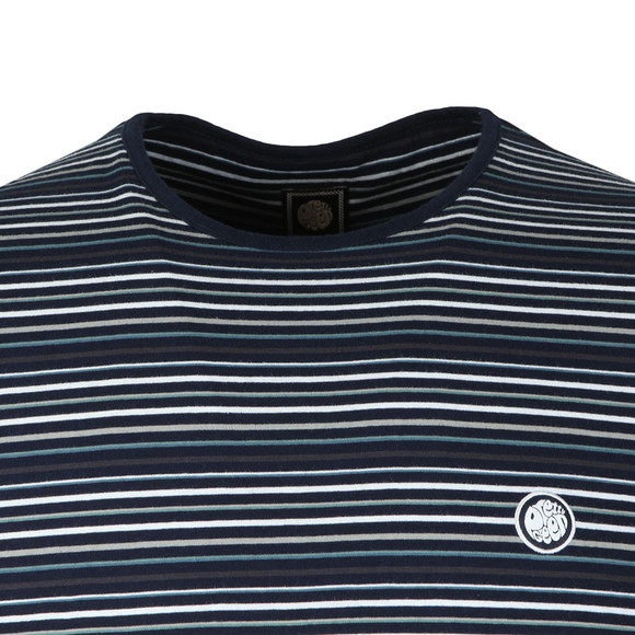 Pretty Green Mens Blue S/S Striped Tee main image