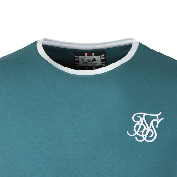 Sik Silk Mens Green S/S Heritage Gym Tee main image