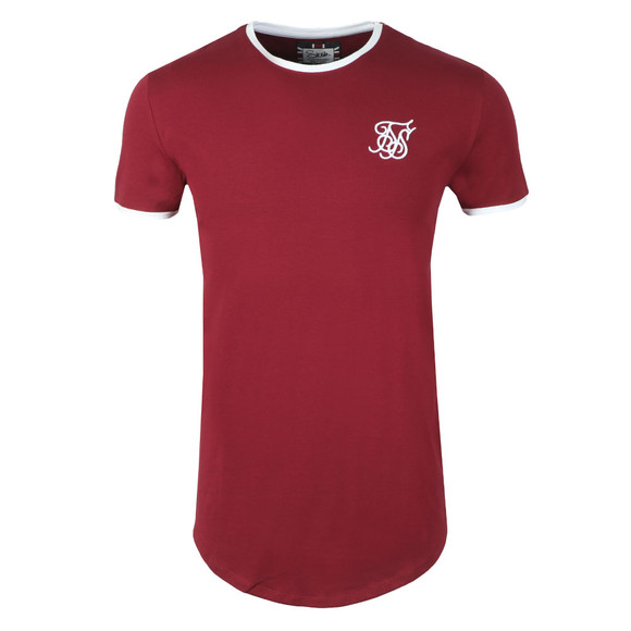 Sik Silk Mens Red S/S Heritage Gym Tee main image