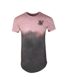 Sik Silk Mens Pink S/S Curved Hem Faded Tee