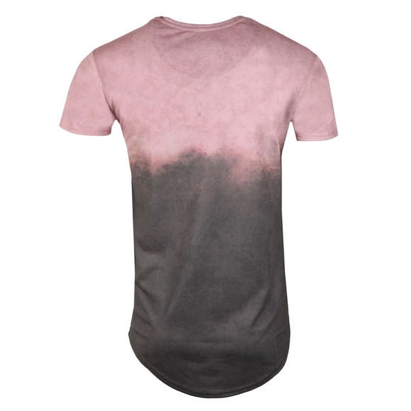 Sik Silk Mens Pink S/S Curved Hem Faded Tee main image