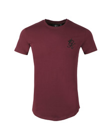 Gym King Mens Red S/S LongLine Tee