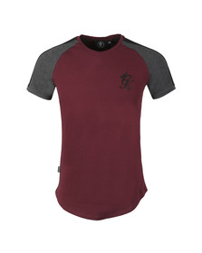 Gym King Mens Red S/S Retro Tee