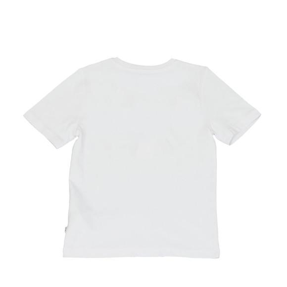 BOSS Loungewear Boys White Boys J25B87 Logo T Shirt main image