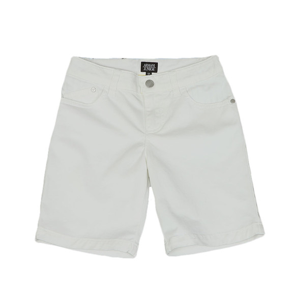 Armani Junior  Boys White 3Z4S01 Chino Short main image