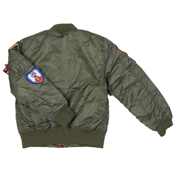 Alpha Industries Boys Green MA1 Patch Bomber