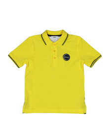 BOSS Bodywear Boys Yellow J25Y70 Circle Logo Polo Shirt