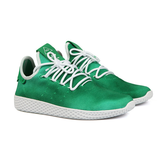 d70889b283211 adidas Originals Mens Green Pharrell Williams Tennis HU Trainer main image