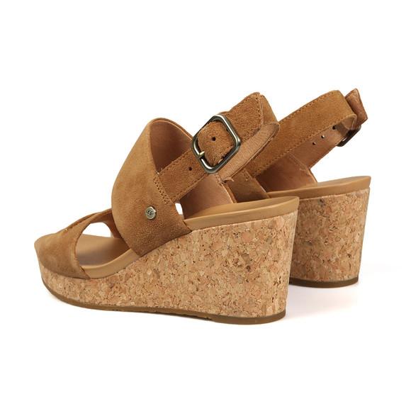 Ugg Womens Brown Elena II Wedge Sandal main image
