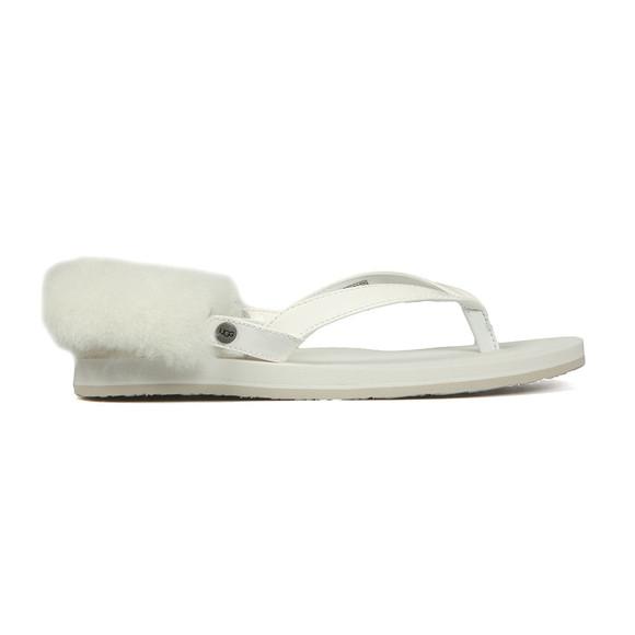 Ugg Womens White Laalaa Flip Flop