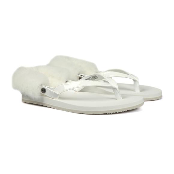 Ugg Womens White Laalaa Flip Flop main image