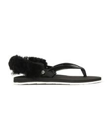 Ugg Womens Black Laalaa Flip Flop