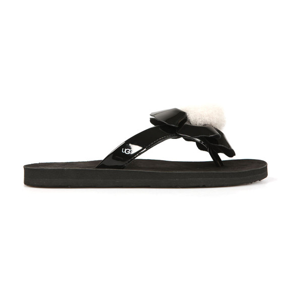 Ugg Womens Black Poppy Flip Flop main image