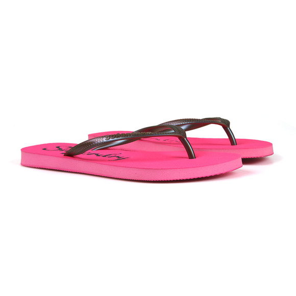 Superdry Womens Pink Super Sleek Flip Flop main image