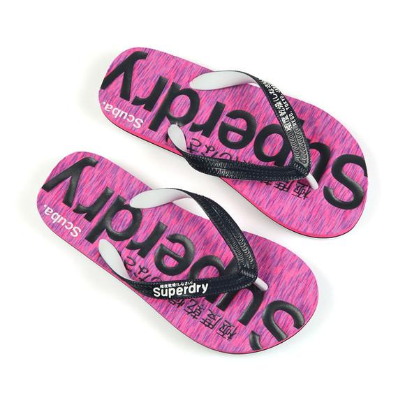 Superdry Womens Pink Scuba Flip Flop main image