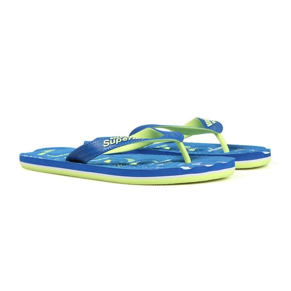 Superdry Mens Blue Scuba Faded Flip Flop main image