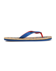 Superdry Mens Blue Printed Cork Flip Flop