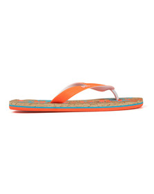 Superdry Mens Orange Printed Cork Flip Flop