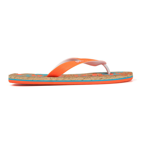 Superdry Mens Orange Printed Cork Flip Flop main image