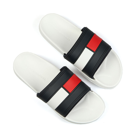 Tommy Hilfiger Mens White Logo Slider main image