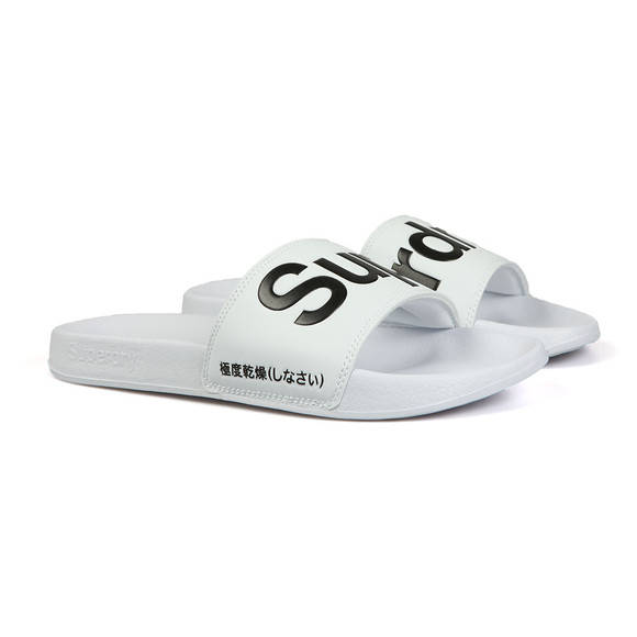 Superdry Mens White Pool Slider main image